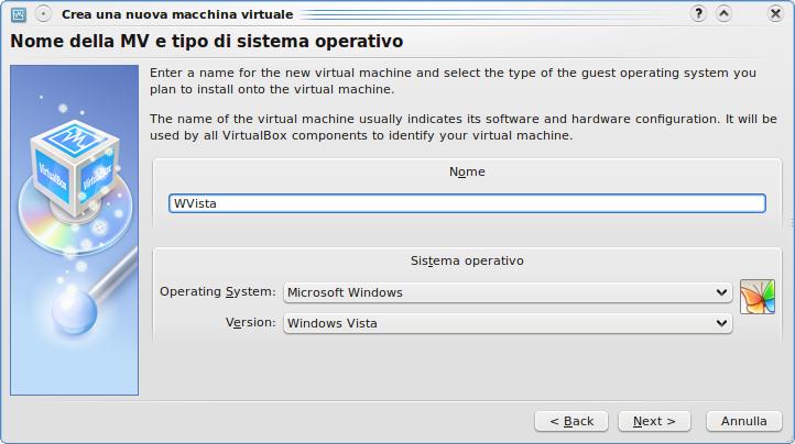 [Creazione macchina virtuale Virtualbox]